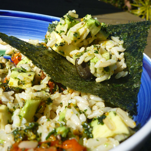 Incredible Warm Winter Nori and Avocado Wrap