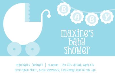 The third baby shower invitation