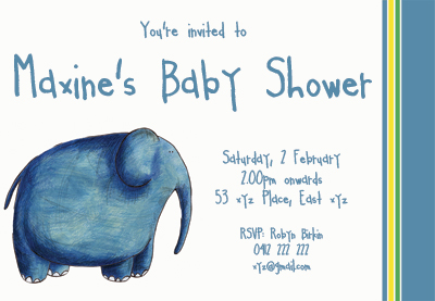 The second baby shower invitation