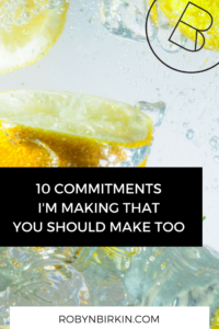 My 10 Diet Commitments
