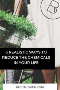 5 ways to reduce the chemicals in your life
