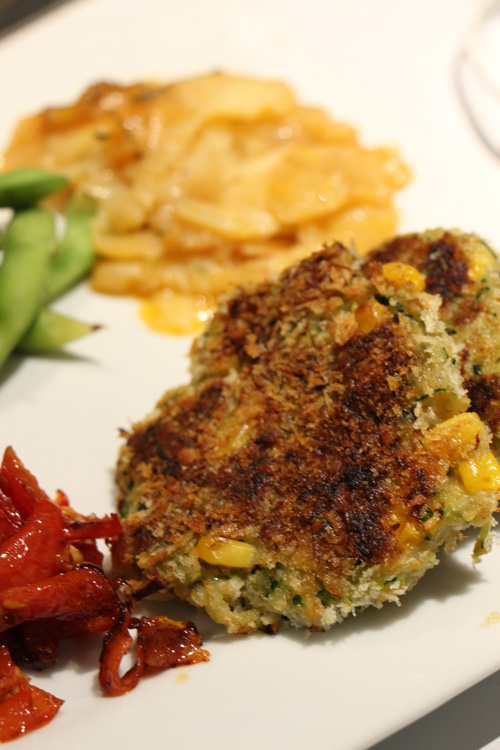 Vegan and Dairy Free Zucchini and Corn Fritters