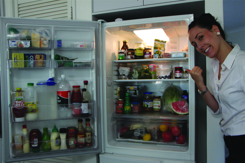 Inside my fridge