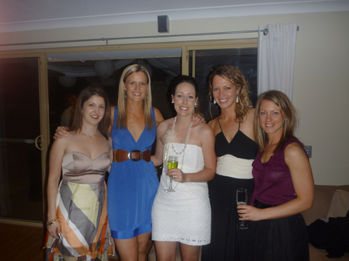 My 'besties' at my wedding party, in a dress I bought that morning...