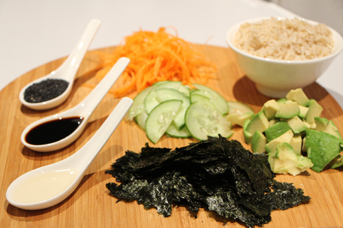 Sushi Bowl Ingredients