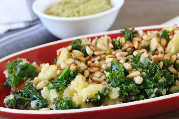Kale and potato mash