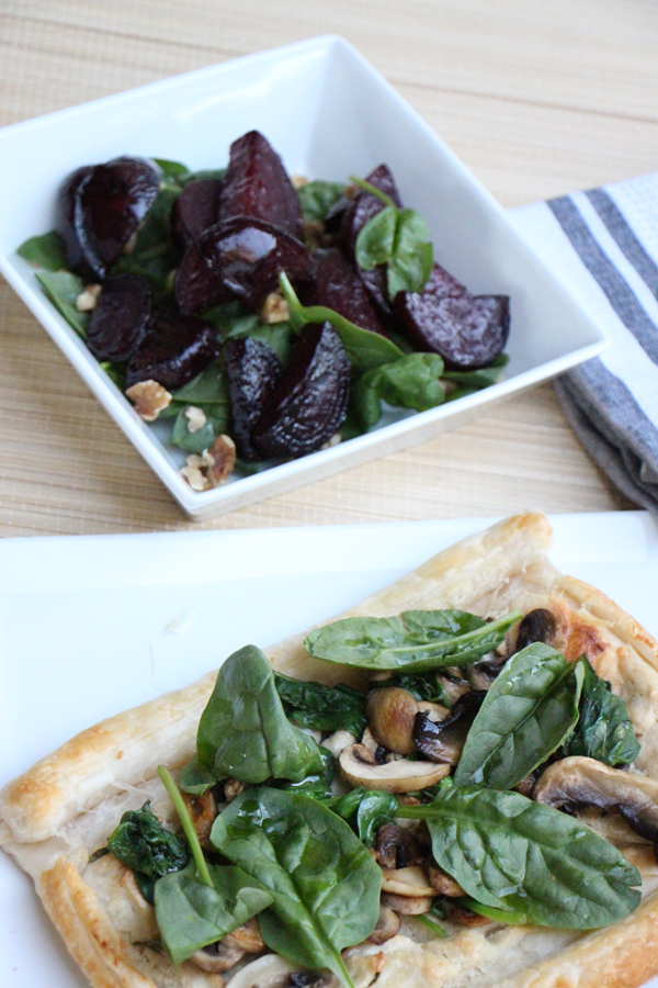 Spinach and Mushroom Tart - Vegan | Modern Day Missus