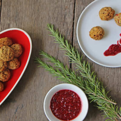 Chickpea and Cranberry Balls