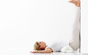 Legs up the wall pose - yoga for fertility