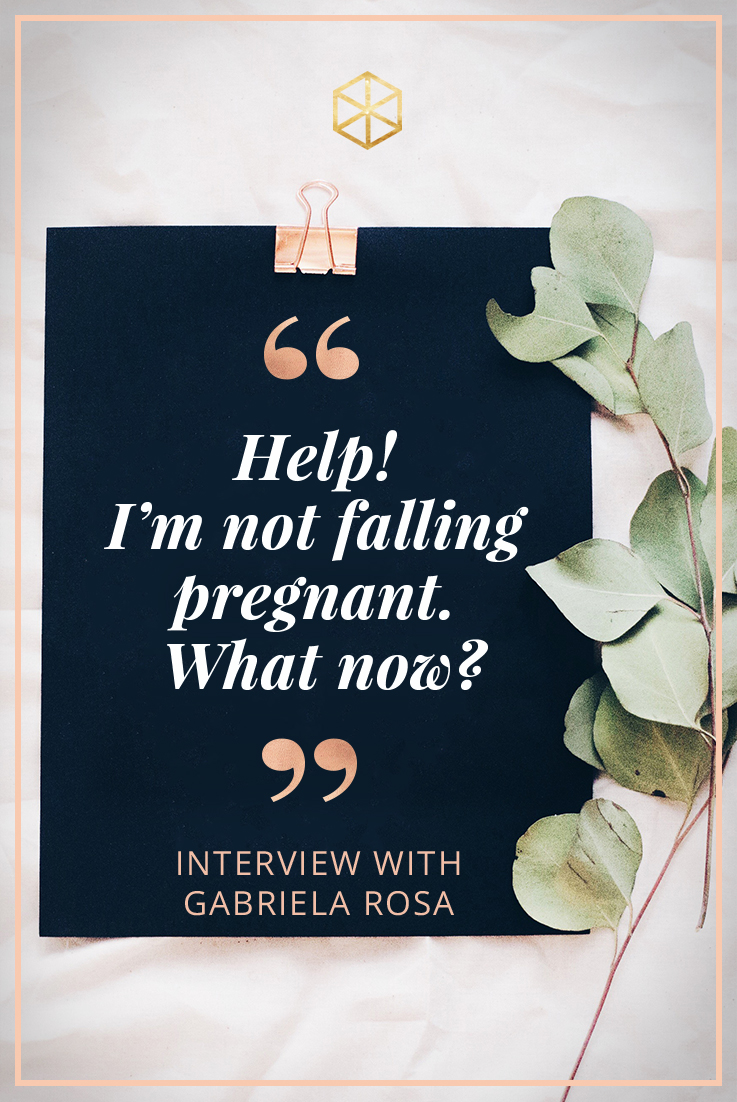 Help I'm not falling pregnant! Interview with Gabriela Rosa