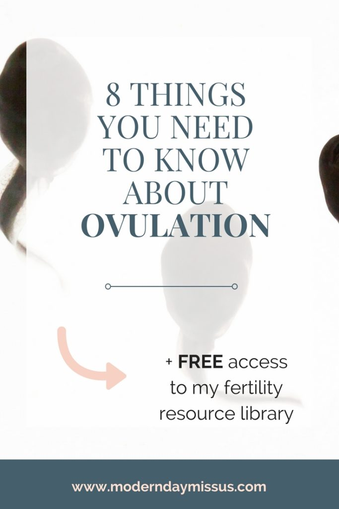 Sometimes tracking your ovulation can be REALLY hard! Here's 8 things you need to know about ovulation to help you decipher it all for all women trying to conceive or with infertility PLUS gain access to my free fertility library with heaps more resources
