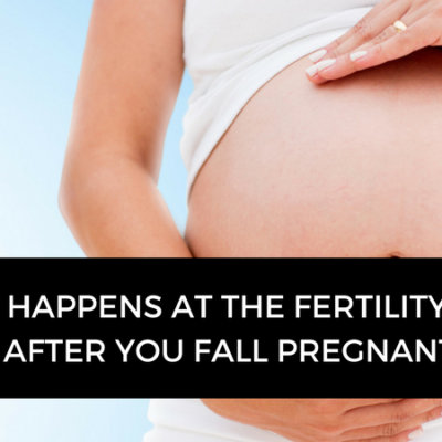 What happens after you fall pregnant at the fertility clinic?