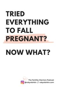Tried everything to fall pregnant